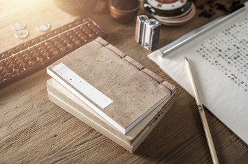 Japanese stab binding (vintage Japanese book)
