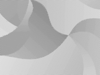Grey-white halftone modern light art. Gradient blurred pattern with raster effect, smooth, wavy lines, shapes.