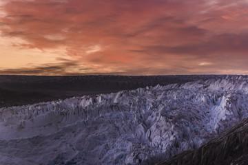 Qualerallit glacier at sunset, Narsaq, Greenland, Denmark