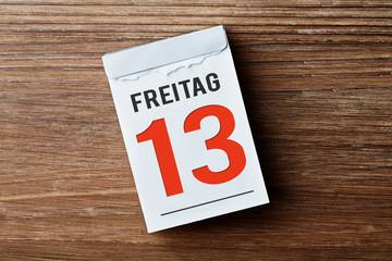 Kalender - Freitag der 13te