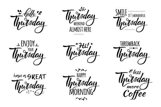 hello thursday lettering
