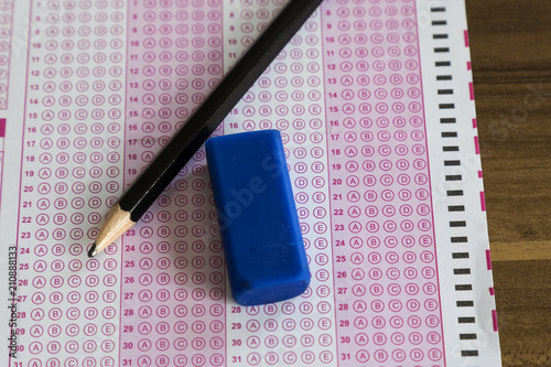 optical form for student selection and placement test Stress of