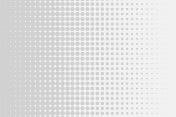 Grey-white halftone modern light art. Gradient blurred pattern with raster effect.