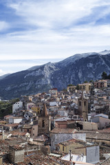 Village of Isnello in Madonie Mountains, Sicily, Italy