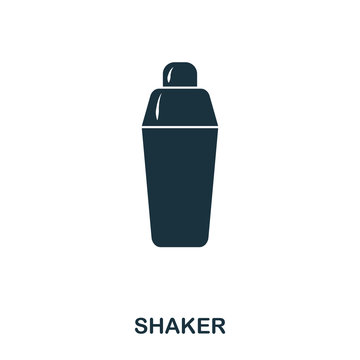 Shaker icon. Line style icon design. UI. Illustration of shaker icon. Pictogram isolated on white. Ready to use in web design, apps, software, print.