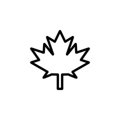 The icon of Maple Leaf. Simple outline icon illustration, vector of Maple Leaf for a website or mobile application on white background
