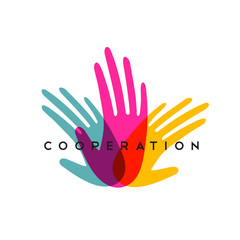 Wall Mural - Human hands together for social help concept