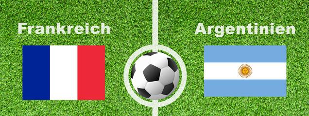 Fußball Achtelfinale - Frankreich gegen Argentinien