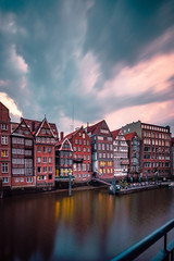 Hamburg Nikolaifleet Sonnenuntergang