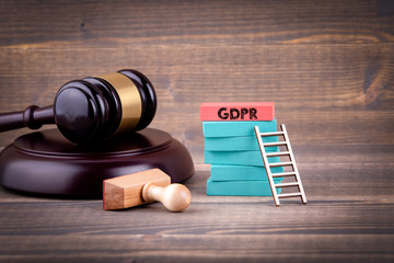 GDPR. General Data Protection Regulation. Cyber security and privacy concept. Colorful Wooden Blocks