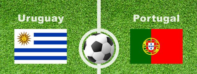 Fußball  Achtelfinale - Uruguay gegen Portugal