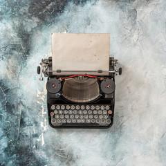 Vintage typewriter grungy paper sheet