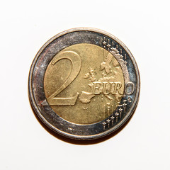 Reverse side of the 2 euro coin issued in Germany
