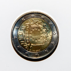 Reverse side of 2 euro  coin issued in Lithuania