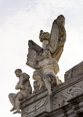 Statues in the Alba Iulia  Fortrss complex in Alba County, Transylvania, Romania