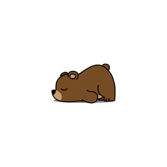 Lazy bear cartoon, vector illustration