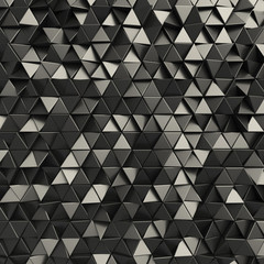 Black abstract triangles backdrop