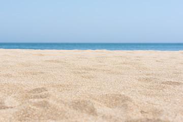 sea sand and blue sea background