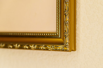 Samples of fragments of wooden frames for pictures