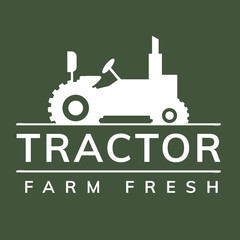 Tractor farm fresh graphic