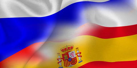 ロシア スペイン  国旗 サッカー