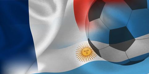 フランス アルゼンチン  国旗 サッカー