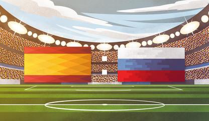 Achtelfinale - Spanien vs. Russland