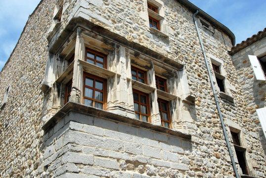 Ville de Ruoms, département de l'Ardèche, France