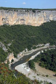 Gorges de l'Ardèche et falaises, Ardèche, France