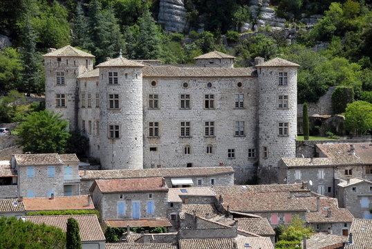 Château de Vogüe, Ville de Vogüe, département de l'Ardèche, France