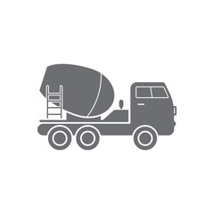 Concrete Mixer Truck icon. Simple element illustration. Concrete Mixer Truck symbol design from Transport collection set. Can be used for web and mobile