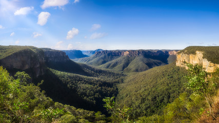 Govetts Leap Lookout Panorama, Blackheath, Blue Mountains, Australia