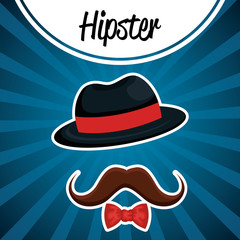 set accessories style hipster vector illustration design