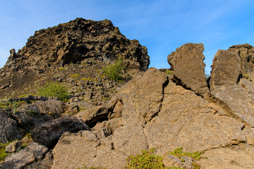 Dimmuborgir, a large area of unusually shaped lava fields, east of Myvatn, Iceland