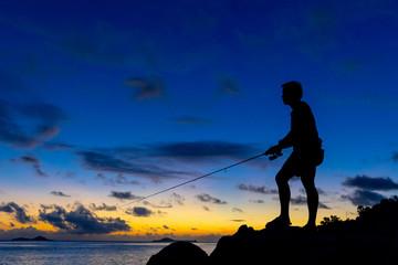Fishing on twilight