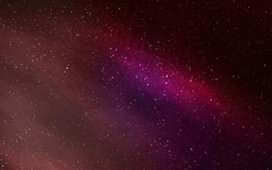 Space nebula clouds with stars aurora pink