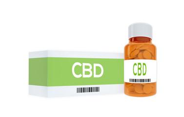 CBD - chemical concept