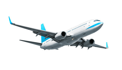 Keuken foto achterwand Vliegtuig Airplane isolated on white background