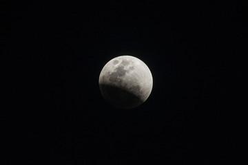 BANGKOK, THAILAND - JANUARY 31, 2018 : Super blue moon lunar eclipse