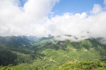Landscape View from the Tram Ton Pass, Sapa District, Lao Cai Province, Northwest Vietnam