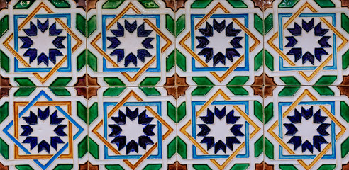 Traditional ornate portuguese azulejo tiles