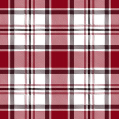 Seamless red tartan plaid pattern. Checkered fabric texture background.