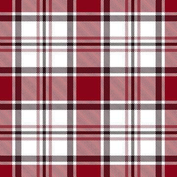 Seamless red tartan plaid pattern. Checkered fabric texture background.