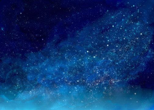 キラキラ輝く美しくて幻想的な星空の景色