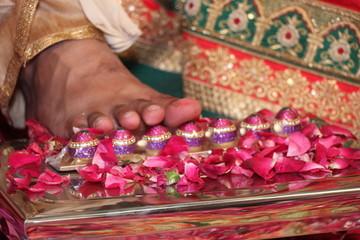 Indian wedding celebration photo