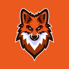 fox/vulpes esport gaming mascot logo template