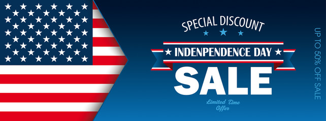 Header Independence Day Sale USA Flag
