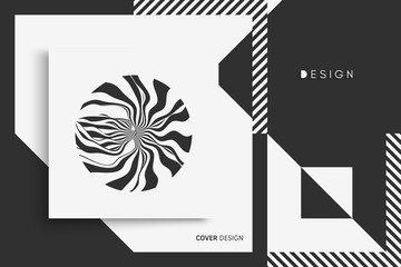 Cover design template. Vector illustration. Pattern can be used as a template for brochure, annual report, magazine, poster, presentation, flyer and banner.