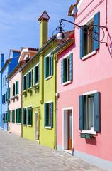 The colors of the Burano islnd