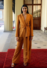 Neelam Gill arrives to attend the Queen's Young Leaders Awards at Buckingham Palace in London